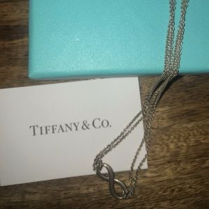Tiffany & Co infinity necklace 16in
